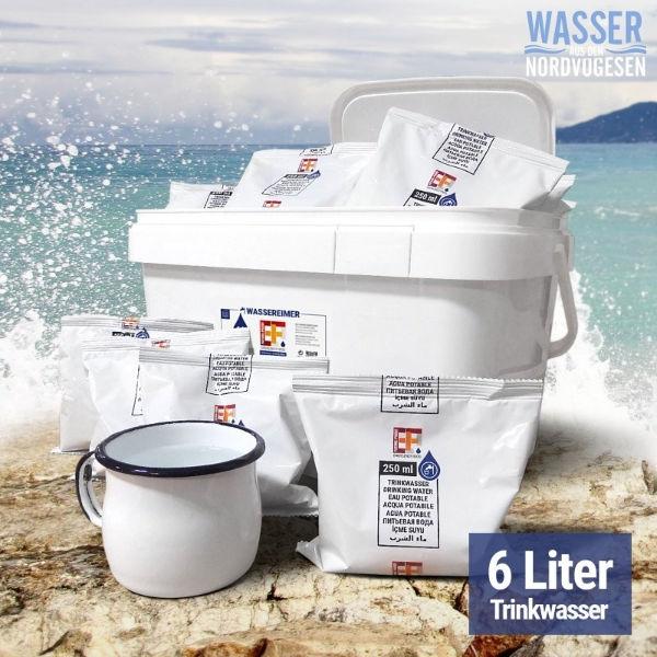 Trinkwasser 6 Liter (24x250ml) - Emergency Food